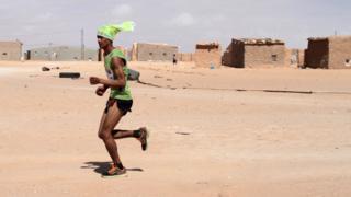 A Saharawi runner