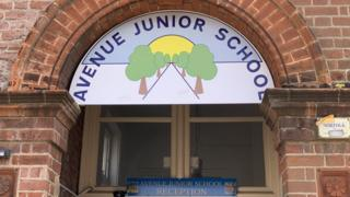 Avenue Junior School sign