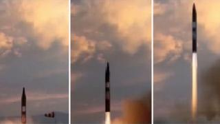 Composite image of missile test