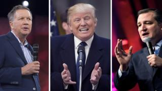 Kasich, Trump, Cruz