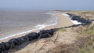 Bellerena tyres on beach