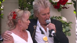 Sharon Cook and Sir Rod Stewart