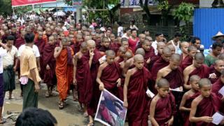Demonstrasi di Rakhine
