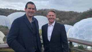 David Morris with Eden International Chief Executive David Harland at the Eden Project