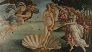 """Sandro Botticelli-nin """"Veneranın doğulması"""" əsəri"""