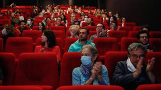Cinema-goers in France
