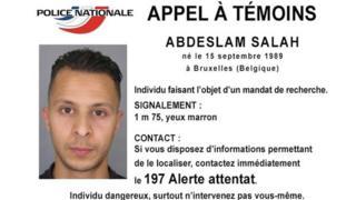 仏警察が作成した指名手配のポスター
