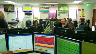 South Central Ambulance Service Control room