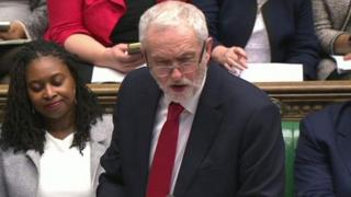 Labour leader Jeremy Corbyn at PMQ