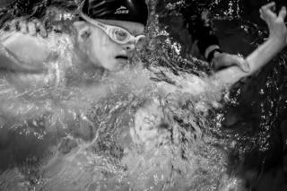 Lyosha swimming