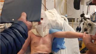 Dale in hospital