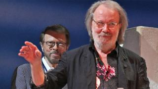 Bjorn Ulvaeus (left) and Benny Andersson on stage at London's Novello Theatre