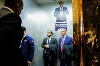 Farage estuvo en campaña apoyando a Trump.