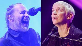 Thom Yorke and Annie Lennox