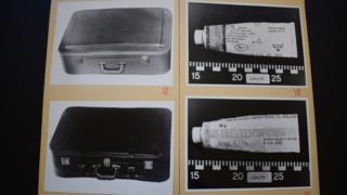Фото двух чемоданов и тюбика с кремом от экземы