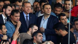President Erdogan was cheered by supporters as he arrived at Ataturk airport