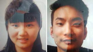 警方公布的被绑架中国公民照片