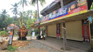 A closed fireworks shop