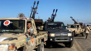 militias from Misrata arrive on the outskirts of Tripoli, 6 April