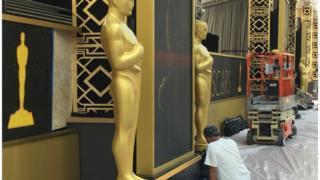 """Подготовка к ежегодной церемонии вручения премии """"Оскар"""""""