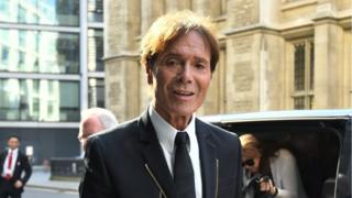 Sir Cliff outside court