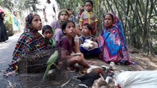 बांग्लादेश में बाढ़ पीड़ित भारतीय शरणार्थी