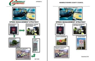 Road safety strategies of Caerphilly and Monmouthshire councils