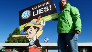 Greenpeace campaigner at VW