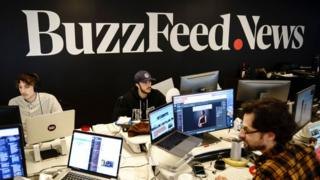 Staff at Buzzfeed News in New York in December 2018