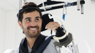 Thibault in the exoskeleton