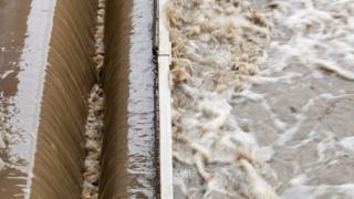 sewage water stock image