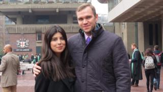 Daniela Tejada with her husband Matthew Hedges