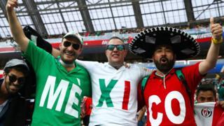 Aficionados de México en el partido contra Alemania del Mundial Rusia 2018