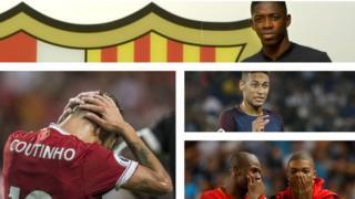 Ousmane Dembele, Philippe Coutinho, Neymar and Kylian Mbappe