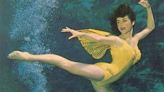 Vicki in her earlier mermaid days
