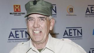 R. Lee Ermey arrives to A&E Television Networks Upfront celebration held at Rockefeller Center April 21, 2005