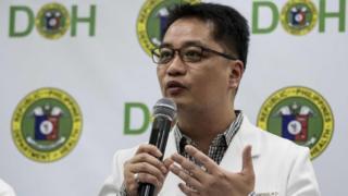 Philippine Under-Secretary Enrique Domingo speaks in Manila