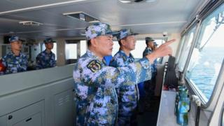 Hải quân Trung Quốc trong mọt cuộc tập trận trên biển
