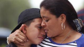 Mujer y su hijo