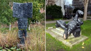 Witch of Agnesi by FE McWilliam, 1959 - University of Greenwich, London. St Thomas a Becket by Edward Bainbridge Copnall, 1973 - St Paul's Cathedral Churchyard, London.