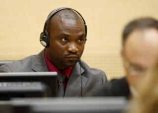 Germain Katanga akiwa katika mahakama ya uhalifu wa kivita