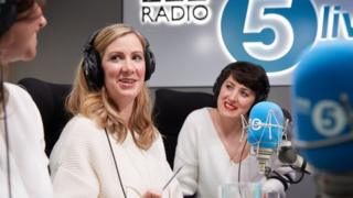 Rachael Bland (centre) with podcast co-hosts Deborah James and Lauren Mahon
