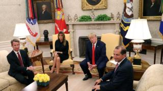 Trump, his wife, and the secretary of U.S. journalists