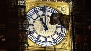 Clockface on Parliament's Queen Elizabeth Tower