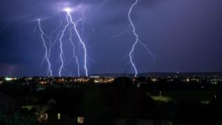 thunderstorm in Eastbourne, East Sussex