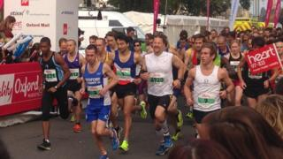 Oxford Half Marathon start