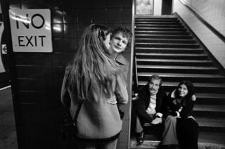 Two couples, Oxford Circus, 1979