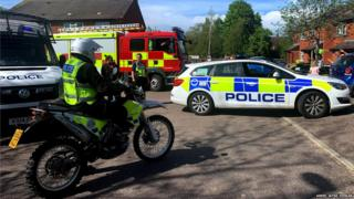 Police and fire engines visited Chloe-Louise Horne