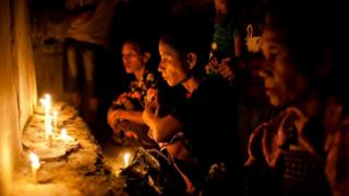 Sumba women perform rituals ahead of a cultural festival