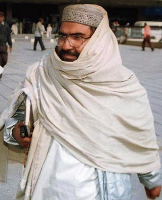 Masood Azhar arriving at Karachi airport in Pakistan, 2000